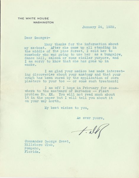 Franklin Roosevelt Typed Letter Signed | The Raab Collection
