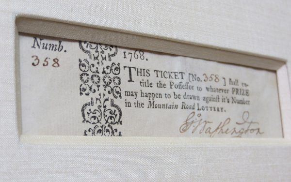 Sold - Mountain Road Lottery Ticket, Signed by George