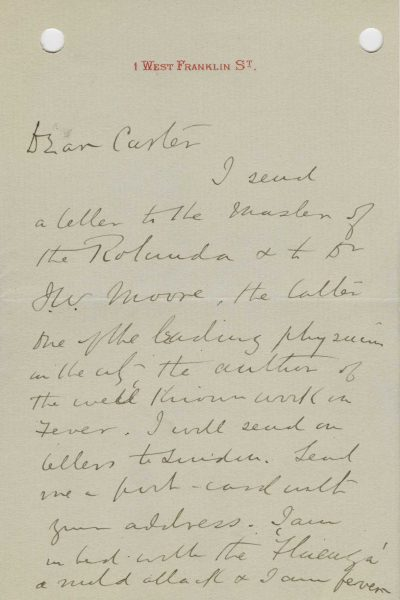 Famed Physician Dr  William Osler Writes Letters of Recommendation
