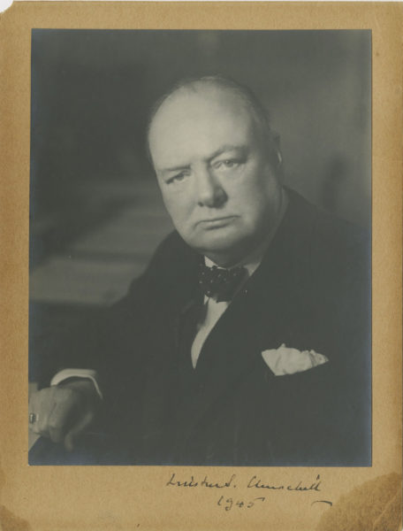 Signed and Dated Photograph of Winston Churchill, as Wartime Prime Minister