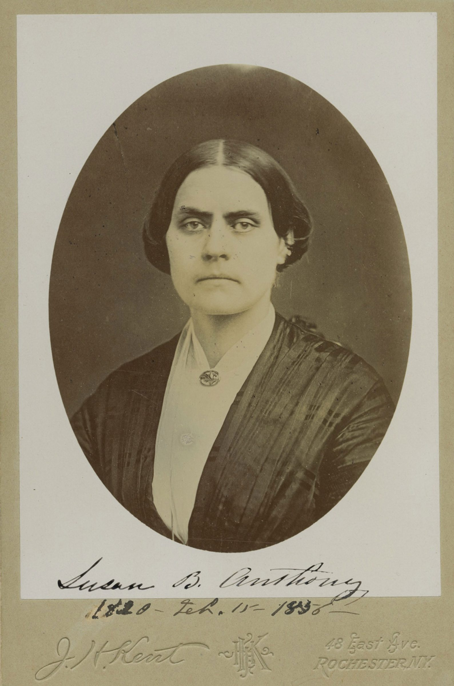 Susan B. Anthony Signed Autograph in 1856 at Age 36