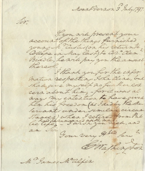 President George Washington's Policy of Freedom: He Reveals He Always Intended to Free His White Indentured Servants When He Left the President's House