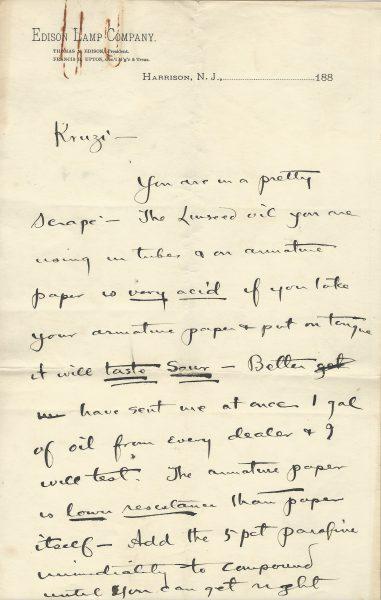 Thomas Edison Signed Letter
