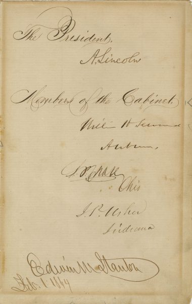 Document Signed By Abraham Lincoln And The Team Of Rivals Raab
