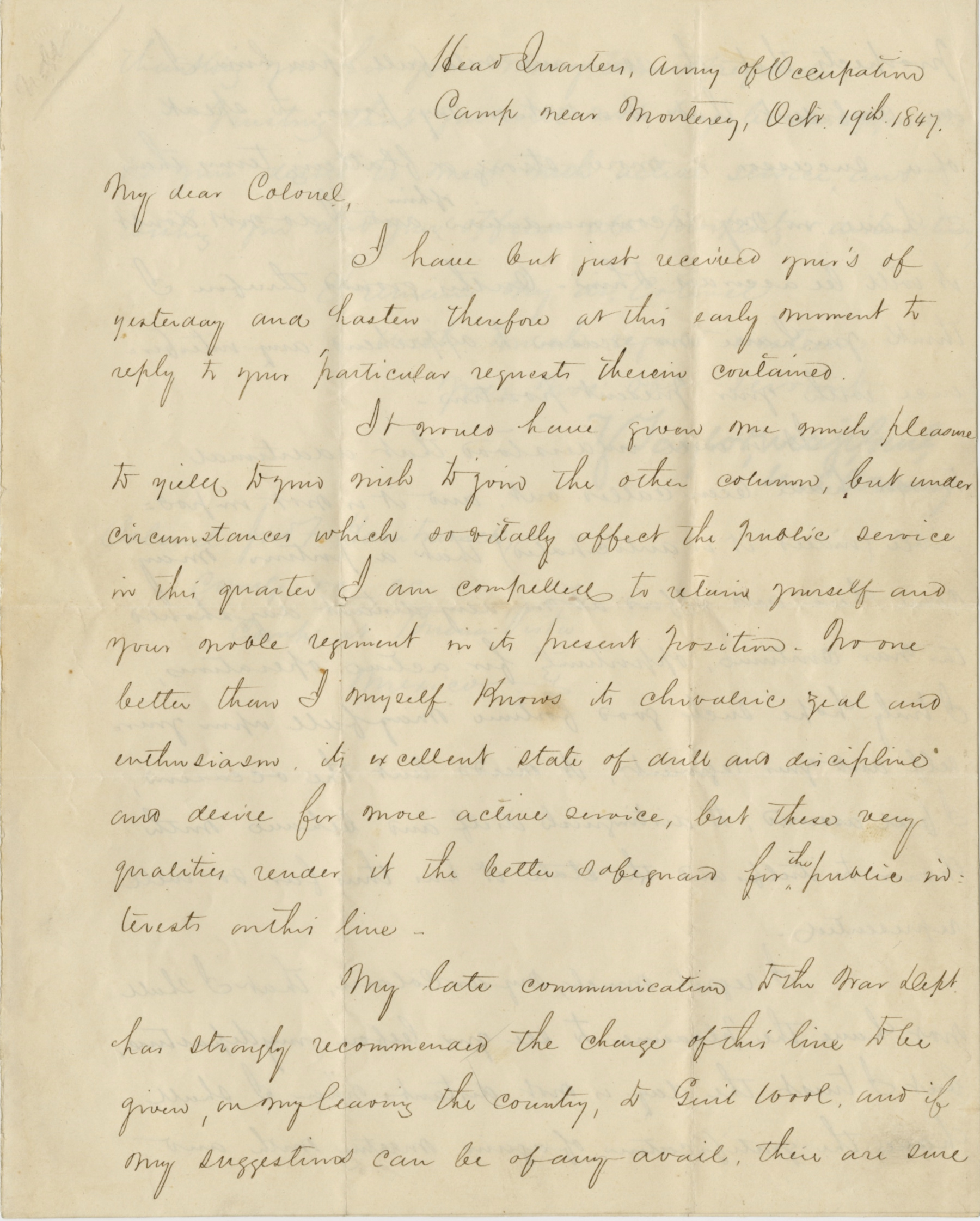 Zachary Taylor Letter Signed