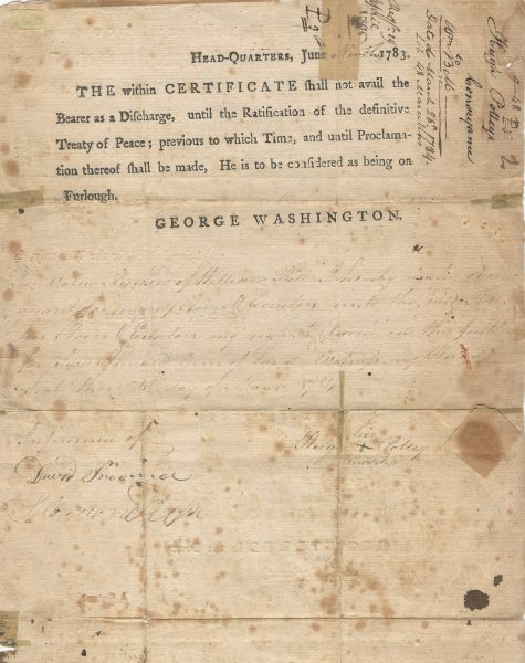 George Washington Document Signed Continental Artillery | Raab