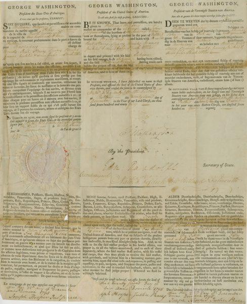 George Washington Signed Document