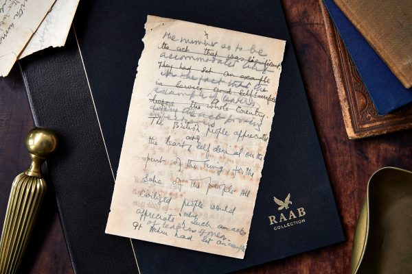 Gandhi manuscript - historical document from The Raab Collection